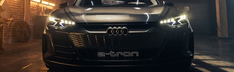 Close up of the Audi e-tron® concept vehicle.
