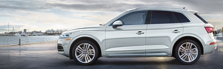 Side profile of the Audi Q5.